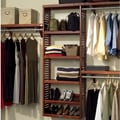 John Louis Inc. Premier 12'' Deep Closet Organizer Set; Red Mahogany