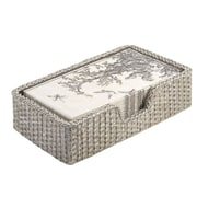 Boston International Weave Guest Towel Caddy Basket; Silver