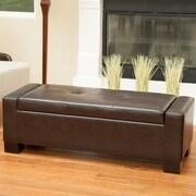 Home Loft Concept Eastport Storage Ottoman; Brown