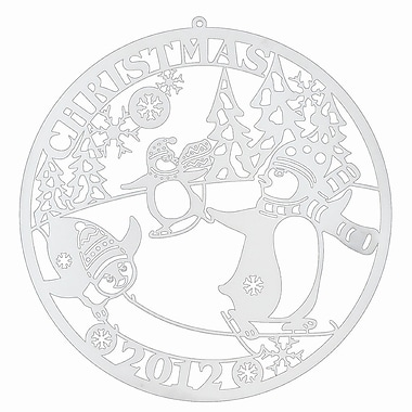 Biedermann and Sons Christmas Penguins Biedermann Commemorative Ornament