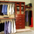 John Louis Inc. Deluxe 16'' Deep Closet Organizer Set; Red Mahogany