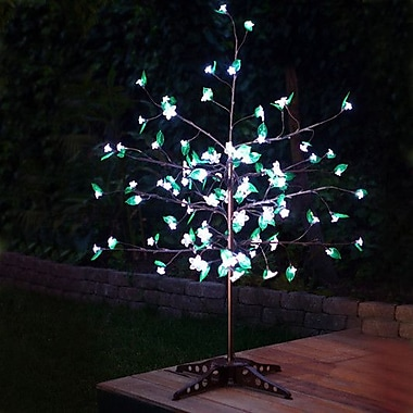 Exhart Anywhere LED w/ Leaves Tree; White
