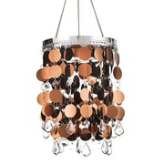 Exhart Anywhere Shimmer Chandelier; Brown