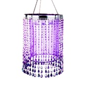 Exhart Anywhere Raindrop Shimmer Chandelier; Purple