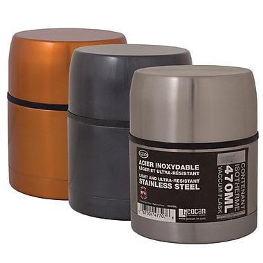 Geo – Bouteilles isothermes en acier inoxydable, orange/noir/argenté, paq./3