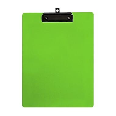 Geo – Planchettes en plastique, format lettre, 9 x 12 po, vert, 12 par paquet
