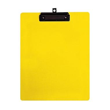 Geo – Planchettes en plastique, format lettre, 9 x 12 po, jaune, 12 par paquet