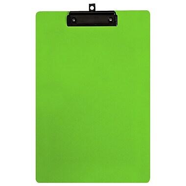 Geo – Planchettes en plastique, format légal, 9 x 15 po, vert, 12 par paquet
