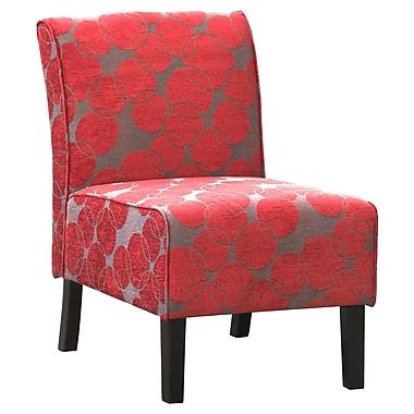 !nspire - Chaise d'appoint en tissu, rouge