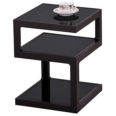 !nspire – Table d'appoint à plusieurs niveaux de 20 1/2 po, noir/verre