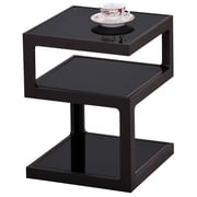 "!nspire 20-1/2"" Multi Tier Accent Table, Black/Glass"