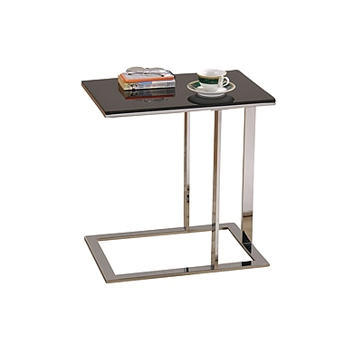 !nspire Accent Table, Black Glass/Chrome