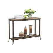 "!nspire 39-1/4""L Console Table, Distressed Pine/Iron"