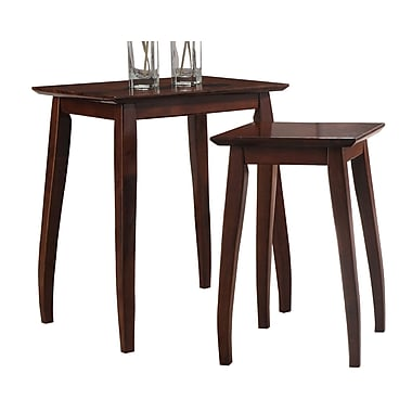 !nspire Solid Wood 2-Piece Nesting Set, Cappuccino