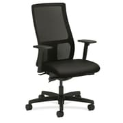 HON® HONIW103CU10 Ignition® Fabric Mid-Back Mesh Office Chair with Adjustable Arms, Black