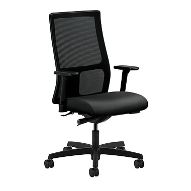 HON Ignition Synchro-Tilt with Adjustable Arms Mid-Back Mesh Task Chair, Onyx Fabric