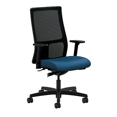 HON Ignition Synchro-Tilt with Adjustable Arms Mid-Back Mesh Task Chair, Regatta Fabric
