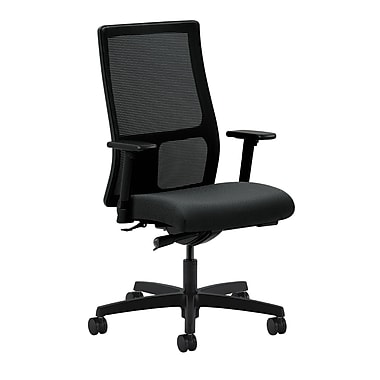 HON Ignition Synchro-Tilt with Adjustable Arms Mid-Back Mesh Task Chair, Charcoal Fabric