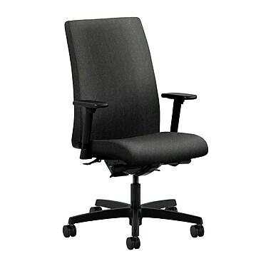 HON Ignition Mid-Back Task Chair Synchro-Tilt, Back Angle Adjustable Arms, Gray Fabric