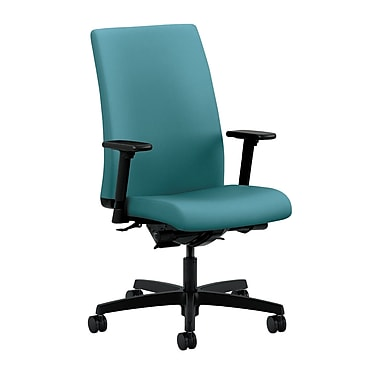 HON Ignition Mid-Back Task Chair Synchro-Tilt, Back Angle Adjustable Arms, Glacier Fabric