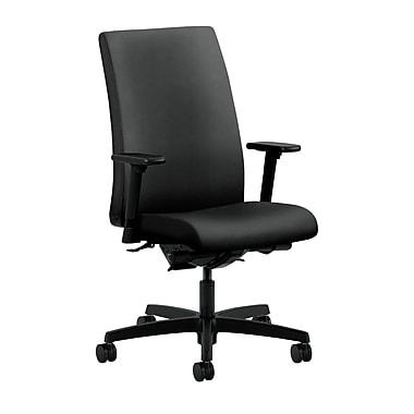 HON Ignition Mid-Back Task Chair Synchro-Tilt, Back Angle Adjustable Arms, Onyx Fabric