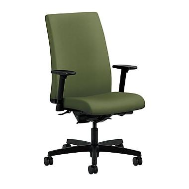 HON Ignition Mid-Back Task Chair Synchro-Tilt, Back Angle Adjustable Arms, Clover Fabric