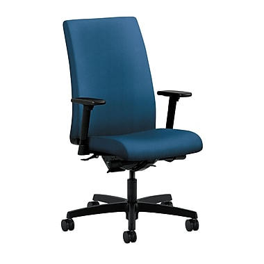 HON Ignition Mid-Back Task Chair Synchro-Tilt, Back Angle Adjustable Arms, Regatta Fabric
