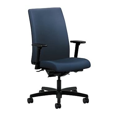 HON Ignition Mid-Back Task Chair Synchro-Tilt, Back Angle Adjustable Arms, Ocean Polyurethane