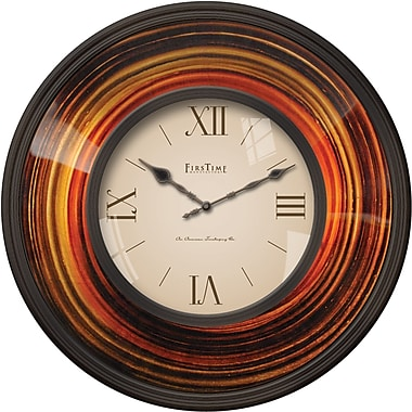 FirsTime 178 Plastic Analog Wall Clock, Multi-Color