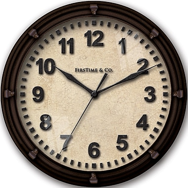 FirsTime 192 Plastic Analog Wall Clock, Black