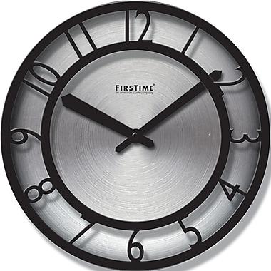 FirsTime 10013 Steel Analog Wall Clock, Black