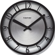 FirsTime 10013 Steel Analog Wall Clock, Black