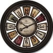 FirsTime 10023 Numeral Plaques Wall Clock, Ivory Face