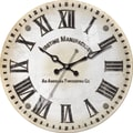 FirsTime 10029 Clarity Wall Clock, White Face