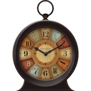 FirsTime 10036 Color Wheel Wall Clock, Brown Face