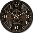 FirsTime 10041 Industrial Gears Wall Clock, Black Face