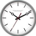 FirsTime 10042 Moderna Wall Clock, White Face