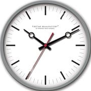 FirsTime 10042 Plastic Analog Wall Clock, Dark Silver