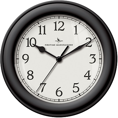 FirsTime Plastic Analog Essential Wall Clock