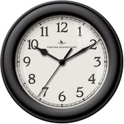 FirsTime 10043 Plastic Analog Essential Wall Clock, Black