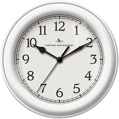 FirsTime 10044 Plastic Analog Essential Wall Clock, White