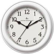 FirsTime 10044 White Essential Wall Clock, White Face