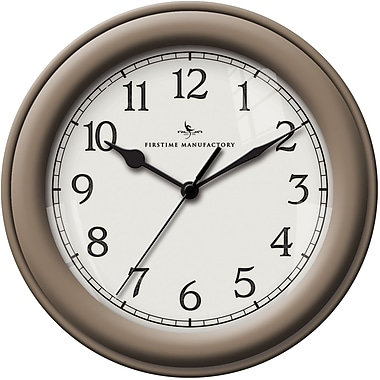 FirsTime 10045 Plastic Analog Essential Wall Clock, Beige
