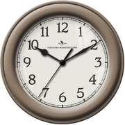 FirsTime 10045 Champagne Essential Wall Clock, White Face