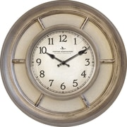 FirsTime 10046 Weathered Linen Wall Clock, White Face