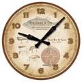 FirsTime 20002 Fishing Lures Wall Clock, Beige Face