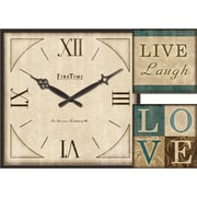 FirsTime 20007 Love Gallery Wall Clock, Ivory Face