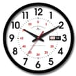 FirsTime 25604 Day Date Wall Clock, White Face