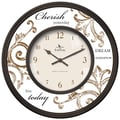 FirsTime 25617 Cherish Wall Clock, Beige Face