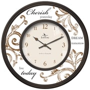 FirsTime 25617 Cherish Wall Clock, Beige Face